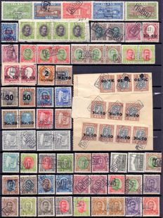 Iceland 1921/1932 - Batch of stamps with TOLLUR  cancellation