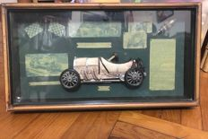 A 3-D Wooden Picture of Motor Car