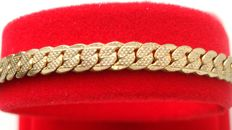 Vintage 1950s - 14K yellow Gold Plated tight flat links chain wrist Unisex Bracelet - NO Reserve