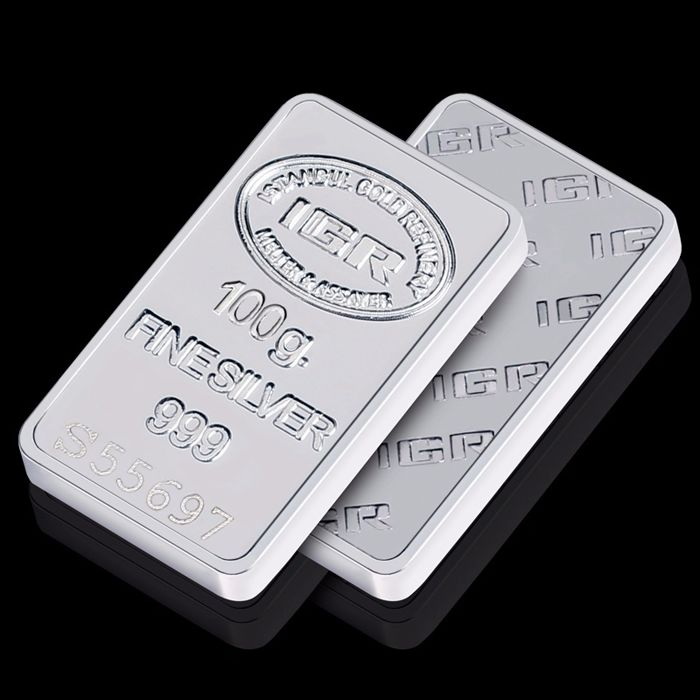 100g Fine Silver Bullion Bar ,*** NO RESERVE PRICE  ***