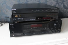 Sony STR-GX211 Stereo AM/FM receiver with Sony CDP-C500M 5 CD changer