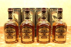 4 bottles - Chivas Regal 12 years old - The Scottish Wildlife Collection