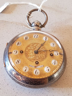 40. Joseph Wachter for Breguet – Grand Sonnerie tula silver verge watch - quarter hour chime on the gong - circa 1820