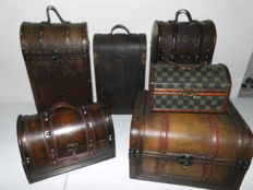 6 Brocante Colonial Cases/Boxes
