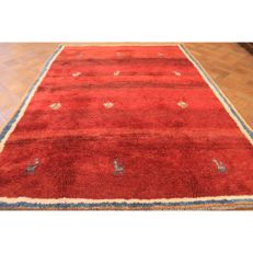 Hand-knotted carpet, Gabbeh nomads' work, wool on wool, made in IRAN, 280 x 200 cm
