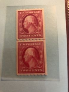 United States of America 1910 - George Washington coil stamp in pair - Scott 391