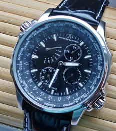 Jacques Cantani - Nightfly World-Timer - JC-855 - Homme - 2017