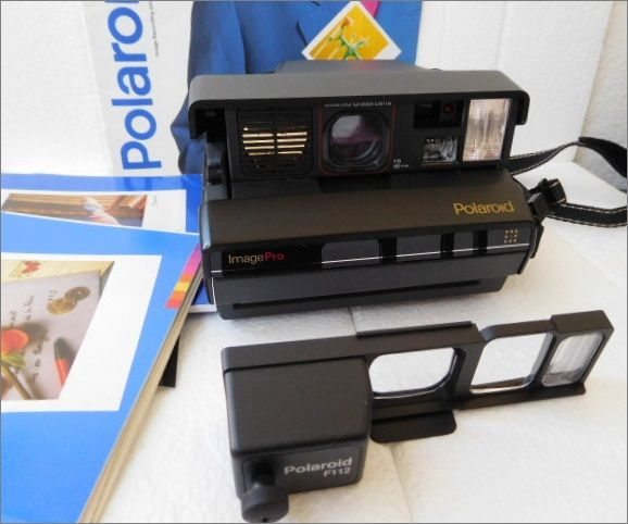 Polaroid ImagePro - with additional lens - shoulder strap - Polaroid booklets