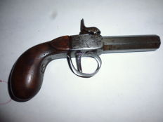 Pistol with forced bullet