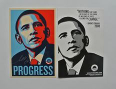 Shepard Fairey (OBEY) - Obama Progress Large Format Sticker