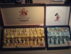 Disney, Walt - 2x Cutlery set - Winnie the Pooh & Mickey Mouse/Donald Duck