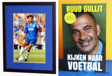 Ruud Gullit original signed book 'Kijken naar voetbal' AND original signed photo - Deluxe Framed + COA and photo evidence