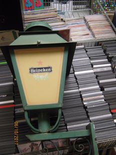Very nice heavy quality steel Heineken lantern.