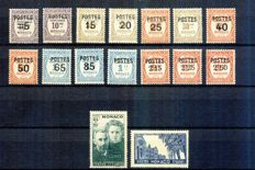 Monaco 1937/1940 – Selection of complete series – Yvert from 140 to 168 and from 195 to 214.