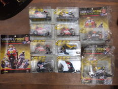 Altaya - Scale 1/18 - Lot of 10 motorbikes from Valentino Rossi