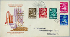 Netherlands 1950 - FDC Churches in war time - NVPH E2
