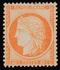 France 1870 - 40c orange - Yvert no. 38