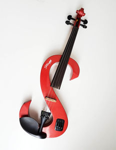 Stagg electric red violin 60cm, with bow and case
