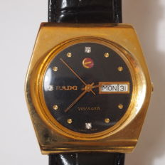 Rado Voyager model 636.3082.2 – Gold plated oval Gents' automatic Swiss wristwatch – circa 1970s
