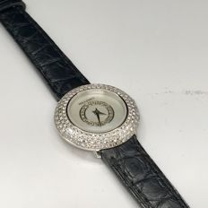 Milleret 18K white gold diamonds watch