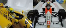 Ayrton Senna Racing Car Collection - Scale 1/18 - McLaren Honda MP4/4 1988 and Lotus Renault 99T