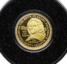 Isle of Man - 1/64 Crown 2010 '325 Anniversary of the Birth of Georg Friedrich Handel' - gold