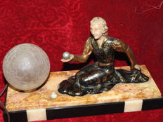 "Desk or bedside lamp - theme ""psychic - crystal ball (astrology)"