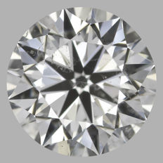 Round Brilliant   1.20ct   H SI2  GIA- original image -10x #2219