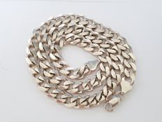 Silver, solid, long, Cuban link necklace, 120 grams - 62 cm