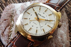 "POLJOT ""Signal"" Alarm Goldplated Men's Handwinding Watch - Vintage Soviet (USSR) Era 1970s"