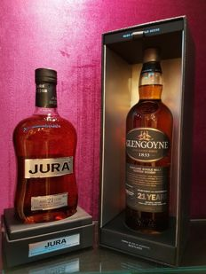 2 bottles - Glengoyne 21 years old & Isle of Jura 21 years old