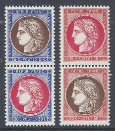 France 1937  - Pexip stamps  - Yvert 348/351