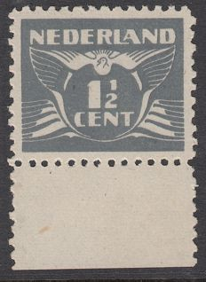"Netherlands 1935 - Flying dove ""Espionage stamp"", with certificate"