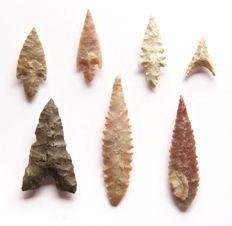 Lot with 7 arrowheads from Niger - 48 - 31 mm (7)