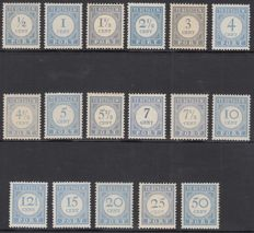 The Netherlands 1912 - Postage due stamps - NVPH P44/P60