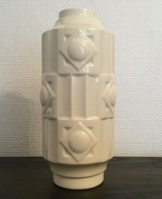 Boch Frères Charles Catteau - Earthenware vase with Art Deco motifs