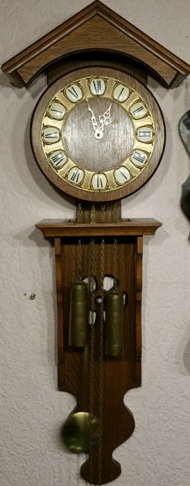 Hermle wall clock with long pendulum – circa 1950
