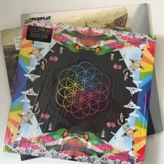 Coldplay, lot of 3 original mint condition LPs