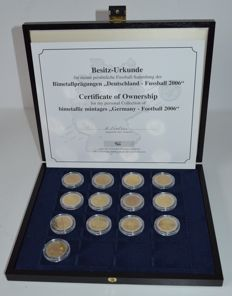 Germany - 2 Euro (Probe) 2006 'Deutschland - Fussball' (13 pieces)