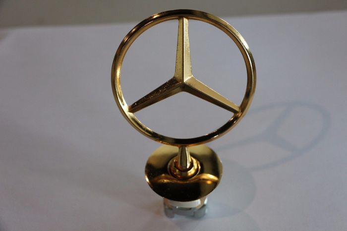 mercedes gold stern f r motorhaube emblem w203 w204 w210. Black Bedroom Furniture Sets. Home Design Ideas
