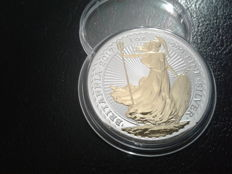 United Kingdom - 2 pounds, 2017 'Britain' 24 kt gold-plating - 1 oz silver