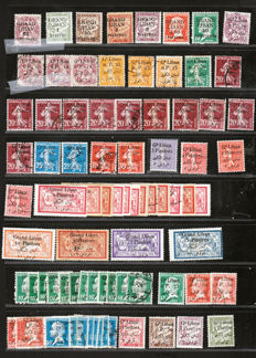Greater Lebanon and Lebanese Republic 1883-1948 - Large selection and collection - between Yvert 1 and 197 with Airmail.