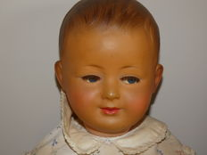 Old doll SNF 60 cm in original box. Made in France