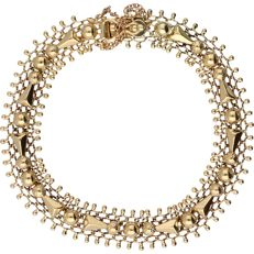 14 kt - Yellow gold, fantasy link bracelet - Length: 22 cm