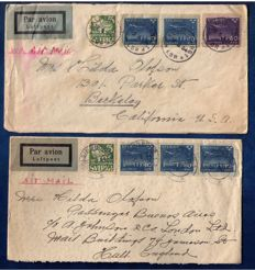 Sweden 1934/1949 - 20 Airmail Letters To Overseas USA and England