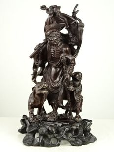 A very fine hardwood carved figure of Li Tieguai - China - circa 1900