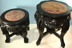Two Chinese side tables - China - first half of the 20th century