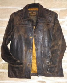 "Pilot-aviator ""Pall Mall"" leather jacket in  good condition"