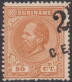 Suriname 1892 – Aid issue with deferred overprint – NVPH 21Aa