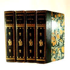 Henry Houssaye - Napoleonic essays - four antique books